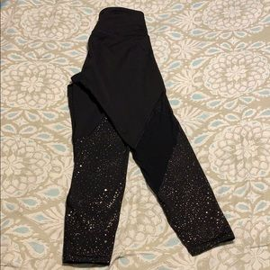 Old Navy Black leggings with sheer and gold specks